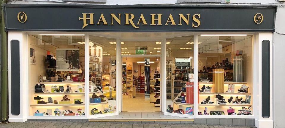 Hanrahans Shoe Shop Header