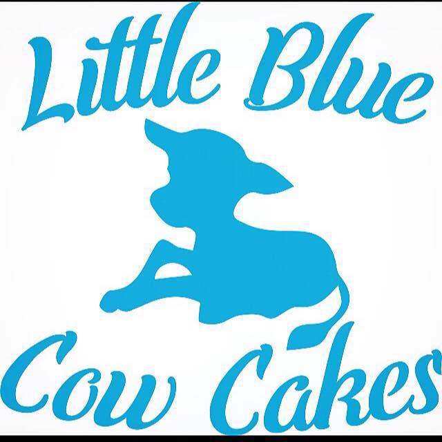 Little Blue Cow Cakes